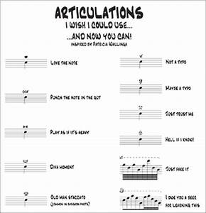 Bassoon Chart Articulations You Wish You Could Use Finale