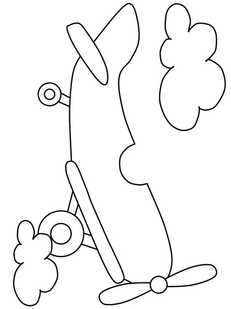 airplane template printable airplane6 transportation coloring pages coloringpagebook