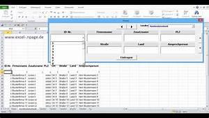 0 Datenbankprogramm In Excel Vba Selber Erstellen