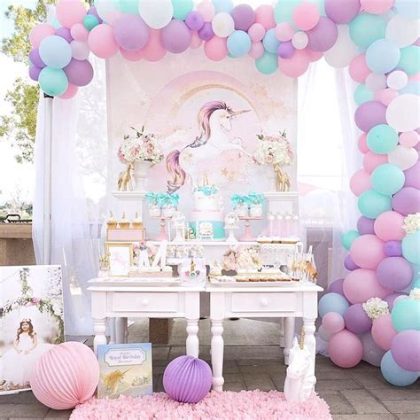 Magical Purple and Gold Unicorn Party   TINSELBOX