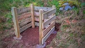 Komposter Holz Selber Bauen : einfacher komposthaufen aus holz selber bauen youtube ~ Orissabook.com Haus und Dekorationen