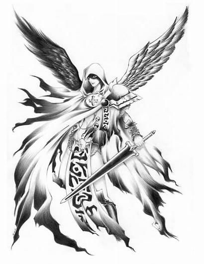 Angel Guardian Sketch Devil Deviantart Drawings Male