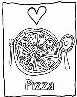 Pizza Coloring Pages Printable Sheet Candy Valentine Foods Slice Getcolorings Getdrawings Popular Heart Bestcoloringpagesforkids sketch template