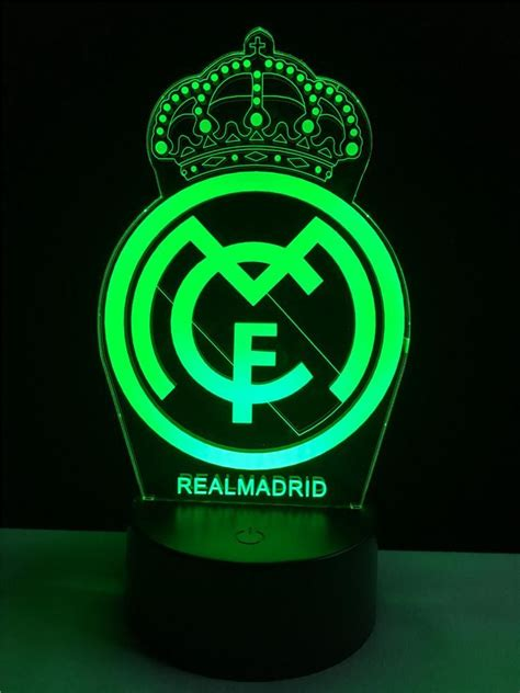 Real Madrid logo LOGO touch 3D colorful Nightlight lamp ...