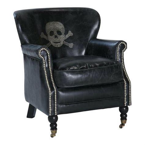 leather skull chair fauteuil t 234 te de mort cuir vintage
