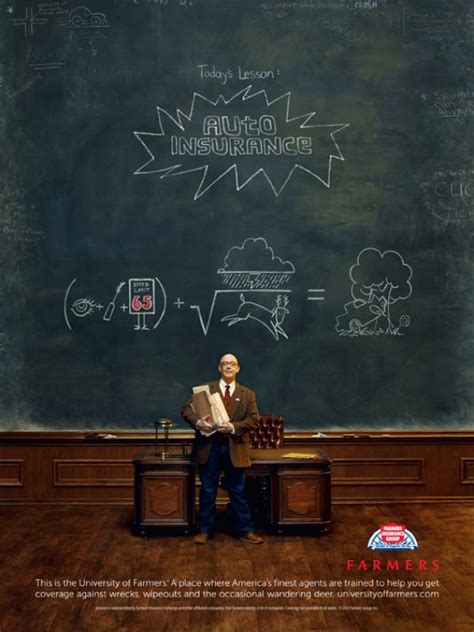 """Farmers Insurance: """"Today's Lesson"""" Print Ad by RPA"""