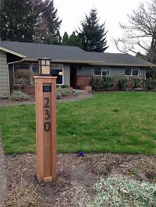 Craftsman lamp post with address numbers For the Home