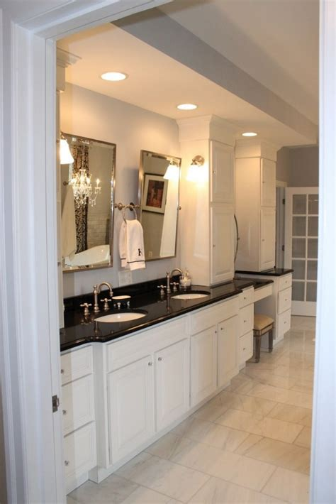 White Cabinets In Bathroom by Bathroom And Kitchen Granite Countertops Pros And Cons