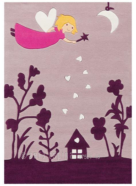 tapis pour chambre fille tapis pour fille brillant glowy fee violet de la