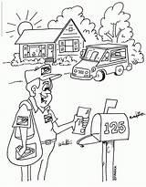 Coloring Office Preschool Printable Mailman Neutron Truck Books Mail Coloriage Poste Template Cartoon Colorear Enfants Bureau Coloringhome Dibujos Popular Disimpan sketch template