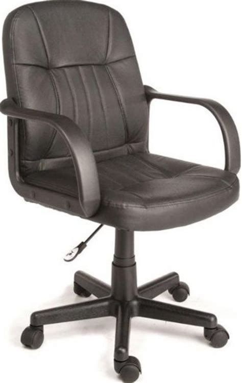 comfort products 60 5607m mid back leather office chair