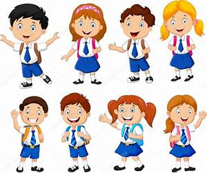 Illustration of school children cartoon — Stock Vector ...