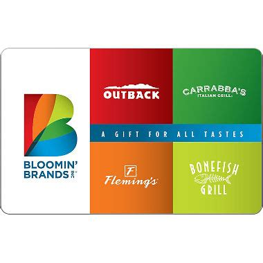 Bloomin' Brands eGift Card - Various Amounts (Email ...