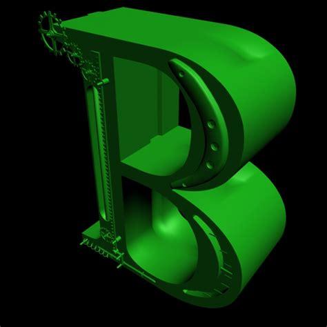 print ready steampunk alphabet letter    model
