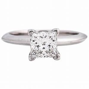 Tiffany and Co. Platinum 1.06 Carat Princess Cut Solitaire ...