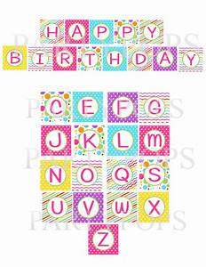 7 best images of happy birthday letters printable happy for Party banner letters