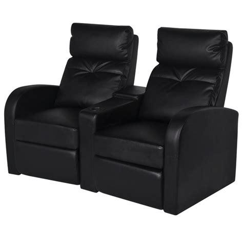 canapé inclinable canapé inclinable cinéma maison 2 sièges en cuir