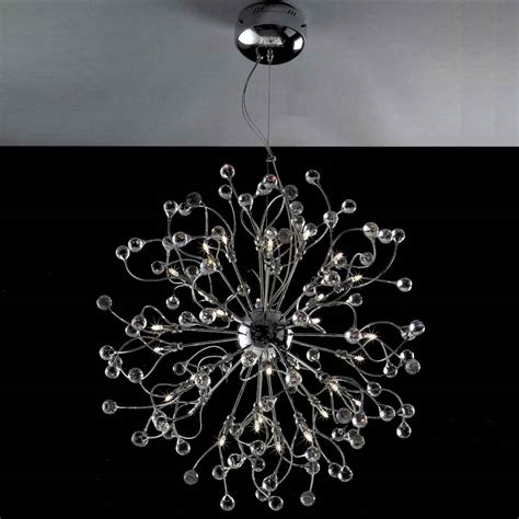 Modern Chrome Chandelier by Brizzo Lighting Stores 30 Quot Sfera Modern