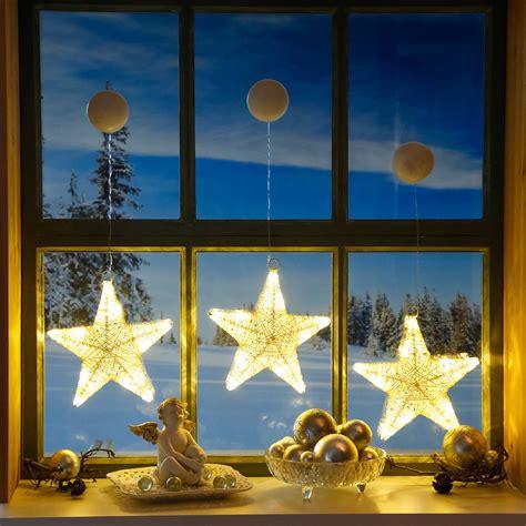 Led Fensterdeko Weihnachten led fensterdeko sternengl 252 ck 3er set kaufen bei