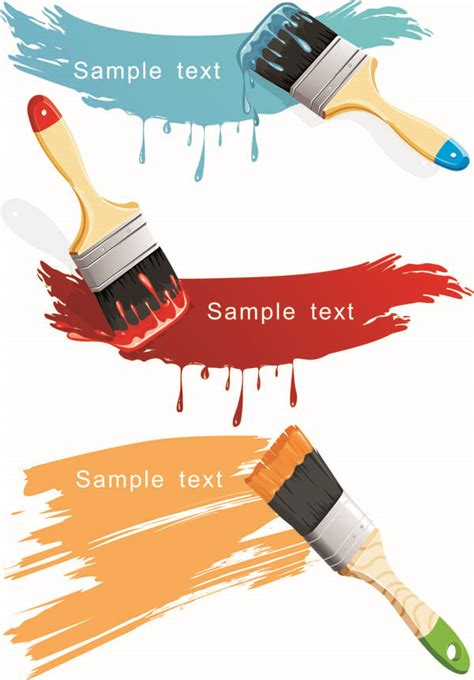 paint brush with color the vector free vector 4vector