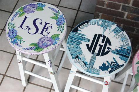 debutante stool painted  martha walton raleigh nc