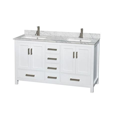home depot double sink vanity wyndham collection sheffield 60 inch w double vanity in