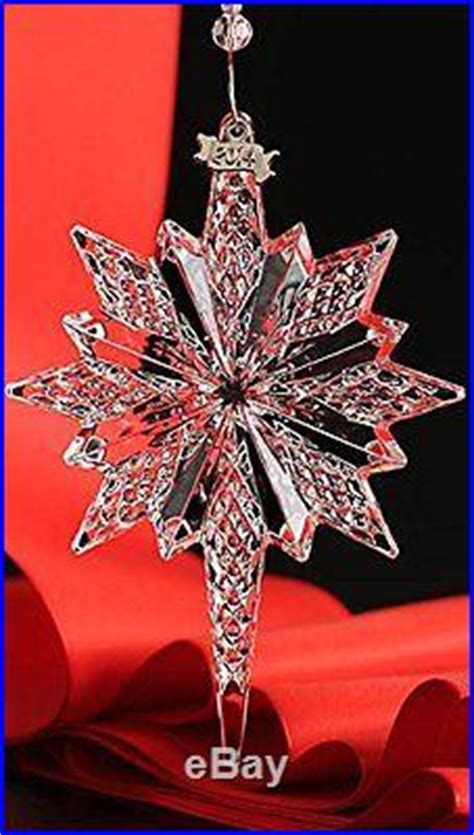 waterford  snowstar snow star crystal ornament