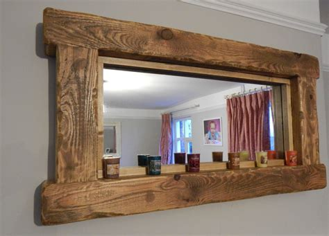 Collection Of Rustic Oak Framed Mirrors