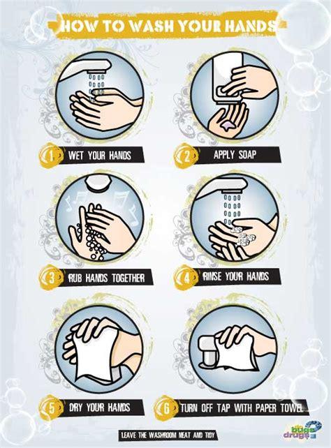 handwashing sign  bugs  drugs