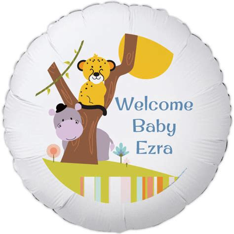 baby shower for large jungle baby shower large personalized balloon