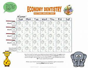 Monthly Tooth Brushing Chart Brushing Chart For The Kids Ed Toothtalk