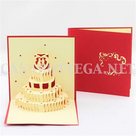 Biglietto auguri 3d torta matrimonio wedding - kirigami ...