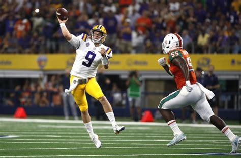 joe burrows lsu debut shows ohio state   qbs