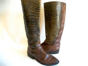 womens boots vintage womens vintage boots leather crocodile or by golddustgoods