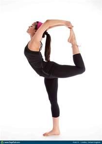 Standing Eagle Pose by Dancer Pose Yoga Asana Image By Kokilsharma