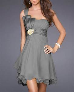 dress bridesmaid weddings summer grey wheretoget With robe ceremonie grise