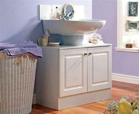 White Wash Basin Unit Washroom Bathroom Sink Storage