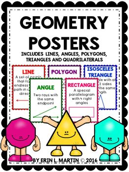 geometry posters  erin  martin teachers pay teachers