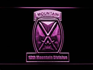 US Army 10th Mountain Division LED Neon Sign | SafeSpecial