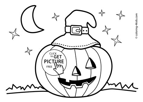 Halloween Jack O'lantern Coloring Pages For Kids