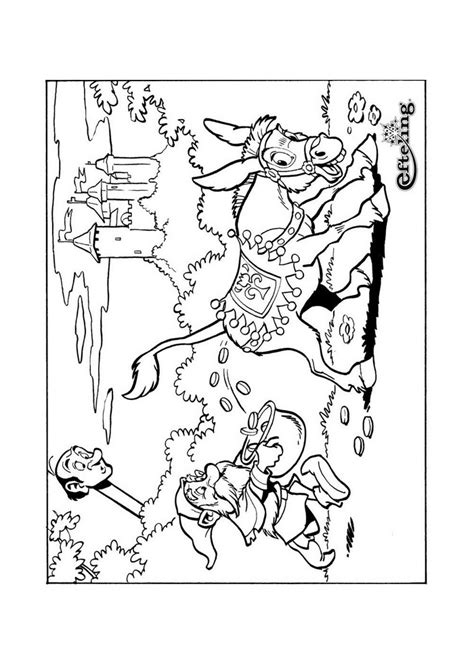 Kleurplaat Ezel Efteling by Sprookjesboom Ezel Sprookjesboom Kleurplaten