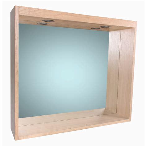 meuble salle de bain sensea miroir avec éclairage intégré l 80 cm sensea