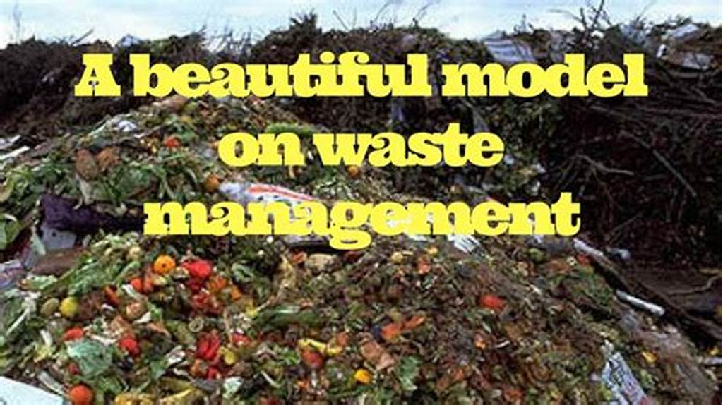 #A #Beautiful #Model #On #Waste #Management
