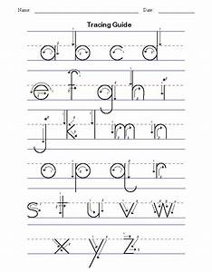 handwriting tracing worksheet printables kids With learning lowercase letters