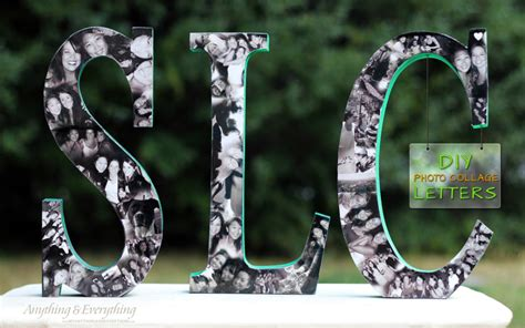 letter picture collage diy photo collage letters anything everythinganything 91240