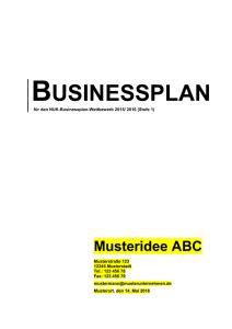 businessplan vorlage zur einreichung stufe