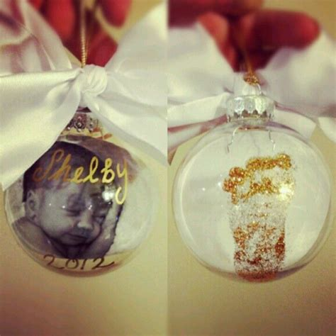 diy baby s first christmas ornaments christmas pinterest