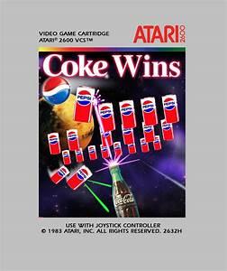 Coke Winspepsi Invaders Labels Art Atari 2600