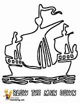 Pirate Ship Coloring Pages Sails Boats Three Boys Colouring Yescoloring Seas Pirates sketch template