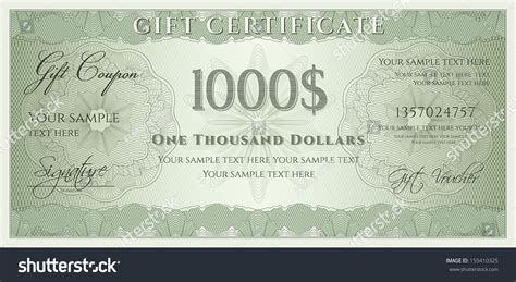 voucher gift certificate coupon ticket template